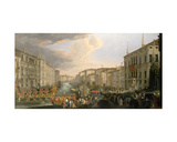 A Regatta on the Grand Canal, Venice Giclee Print by Luca Carlevaris