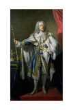Portrait of George II (1683-1760) in Garter Robes, 1748 Giclee Print by John Shackleton