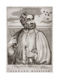 T.1557 Portrait of Ferdinand Magellan (C.1480-1521) from 'Lives of Illustrious Men', Engraved by… Giclee Print by Andre Thevet