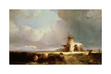 Remains of St. Benedict's Abbey on the Norfolk Marshes, 1847 Giclee Print by Henry Bright