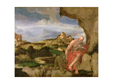 St. Jerome in the Wilderness, 16th Century Giclee Print by Lambert Sustris