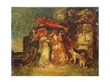 Faust, Marguerite and Mephistopheles Giclee Print by Adolphe Joseph Thomas Monticelli