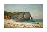 The Sea-Arch at Etretat, 1869 Reproduction procédé giclée par Gustave Courbet