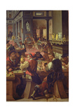 The Jewellers' Workshop, 1572 Giclee Print by Alessandro di Vincenzio Fei
