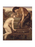 Pan and Psyche, 1870s Giclee Print by Sir Edward Coley Burne-Jones