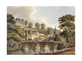 Bradford, from 'Bath Illustrated by a Series of Views', Engraved by John Hill (1770-1850) Pub. by… Giclee Print by John Claude Nattes