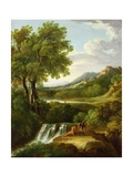 Figures in a Classical Landscape Giclee Print by Jan Frans van Bloemen