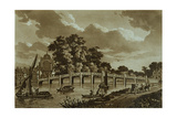 Hampton Court Bridge, Illustration from 'Picturesque Views of the River Thames', Pub. 1799 Giclee Print by Samuel Ireland