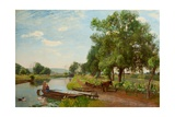 River and Rail, 1896 Giclee Print by Sir David Murray