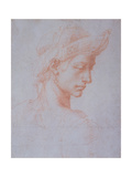 Ideal Head, C.1518-20 Giclee Print by  Michelangelo Buonarroti