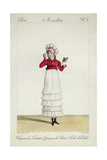 A Lady in a Levantine Hat, a Tiered Skirt and a Velvet Jacket, Plate 6 from the 'Incroyable Et… Giclée-Druck von Antoine Charles Horace Vernet