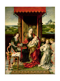 The Virgin and Child with Angels Giclée-Druck von Joos Van Cleve
