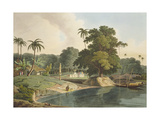 Near Bandell on the River Hoogly, Plate Viii from Part 6 of 'Oriental Scenery', Pub. 1804 Giclee Print by Thomas & William Daniell