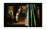 An Eavesdropper with a Woman Scolding, 1655 Giclee Print by Nicolaes Maes
