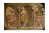 Musical Angels Within a Trompe L'Oeil Cloister, from the Interior West Facade Giclee Print by Santi Di Tito