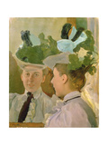 Lady at the Mirror, 1898 Giclee Print by Konstantin Andreevic Somov