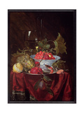 A Still Life of Fruit, 1660 Giclee Print by Nicolaes Van Gelder