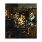 """As the Old Sing, the Young Pipe"" Gicléedruk van Jacob Jordaens"