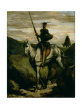 Don Quichotte Reproduction procédé giclée par Honore Daumier