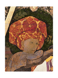 The Battle of San Romano, Detail of the Head of Niccolo Da Tolentino (D.1435) Leader of the… Giclee Print by Paolo Uccello
