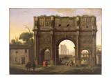 The Arch of Constantine, Rome, C.1640's Giclee Print by Jan van Bike Miel