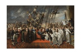 The Arrival of Louis Xviii at Calais, 1792-1819 Giclee Print by Edward Bird