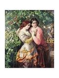 Rosalind and Celia, C.1845 Giclee Print by Daniel Maclise