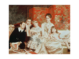 Family Group Giclee Print by Michele Gordigiani