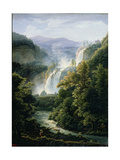 The Caduta Delle Marmore Waterfall on the River Velino, 1819 Giclee Print by Fedor Mikhailovich Matveev