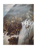 Suvorov's Army Crossing the Alps in 1799, 1899 Giclee Print by Vasilii Ivanovich Surikov