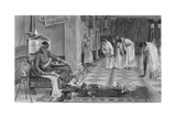 The Favourites of the Emperor Honorius, Engraved by J. Stephenson Giclee Print by John William Waterhouse
