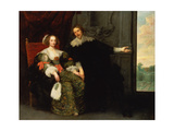 Portrait of a Man and His Wife Giclee Print by Cornelis de Vos