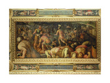 The Defeat of Radagasio from the Ceiling of the Salone Dei Cinquecento, 1565 Giclée-Druck von Giorgio Vasari