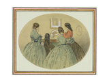 Figures around a Piano Giclee Print by William Mcconnell