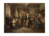 A Philharmonic Rehearsal in a Farmhouse, 1860 Giclee Print by John Evan Hodgson