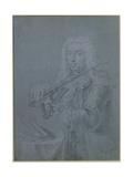 Portrait of Francesco Veracini (1690-1768), Italian Violinist Giclee Print by Franz Ferdinand Richter