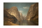Up the Sogne Fjord, Near Gudangen, 1876 Giclee Print by Adelsteen Normann