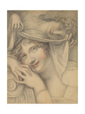 Portrait of Mrs Udy or 'Beauty Embraced by Sleep', C.1804 Giclee Print by Richard Cosway