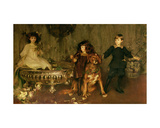Lord John Manners, Lord Haddon and Lady Marjorie Manners Giclee Print by James Jebusa Shannon