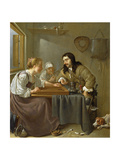 A Couple Playing Backgammon Giclee Print by Jacob Duck