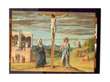 Christ on the Cross with the Virgin and St. John the Evangelist Giclee Print by Giovanni Battista Cima Da Conegliano