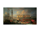 Bucintoro in the Bacino, Venice Giclee Print by Luca Carlevaris