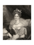 Princess Adelaide of Saxe-Coburg Meiningen, Engraved by H.R. Cook (Fl.1813-47), from 'National… Giclee Print by Henry Dawe
