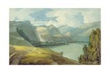 Derwentwater Looking South, 1786 Giclee Print by Francis Towne