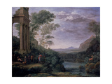 Landscape with Ascanius Shooting the Stag of Sylvia, 17th Century Giclee Print by Claude Lorrain