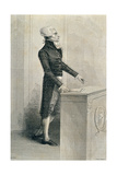 Maximilien De Robespierre (1758-94) Orating, Engraved by Stephane Pannemaker (1847-1930) Giclee Print by Eugene Joseph Viollat