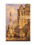 The Market Square, Wurzburg, Bavaria Giclee Print by Samuel Prout