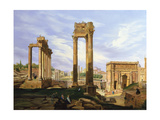 View of the Roman Forum Giclee Print by Jodocus Sebasiaen Adeele