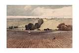A Ploughed Field, C.1808 Giclee Print by John Sell Cotman