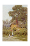 A Wiltshire Garden Giclee Print by Helen Allingham